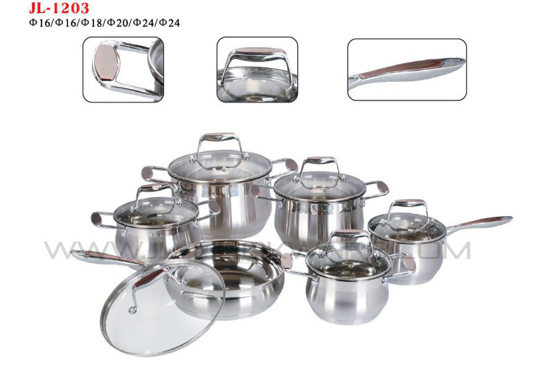 2015 good price happy baron 12pcs magnetic stainless induction cooker made in china