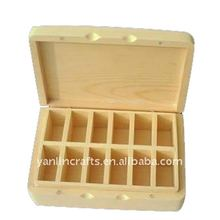Custom wholesale cheap small natural color essential oil wooden packaging box