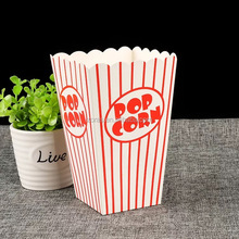 ZORAS Red Line Printed STOCK MOQ1PC&Custom Design Popcorn Box with Fast Delivry Time