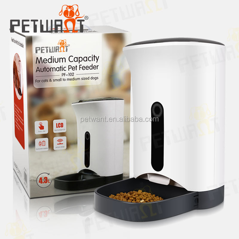 capacitive touch button 2016 new design AC powered electric programmable automatic cat pet feeder