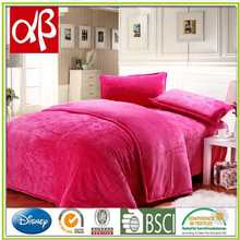 Solid dyed caroset bedding set embossed caroset bed suite flannel bed linen galaxy bedding