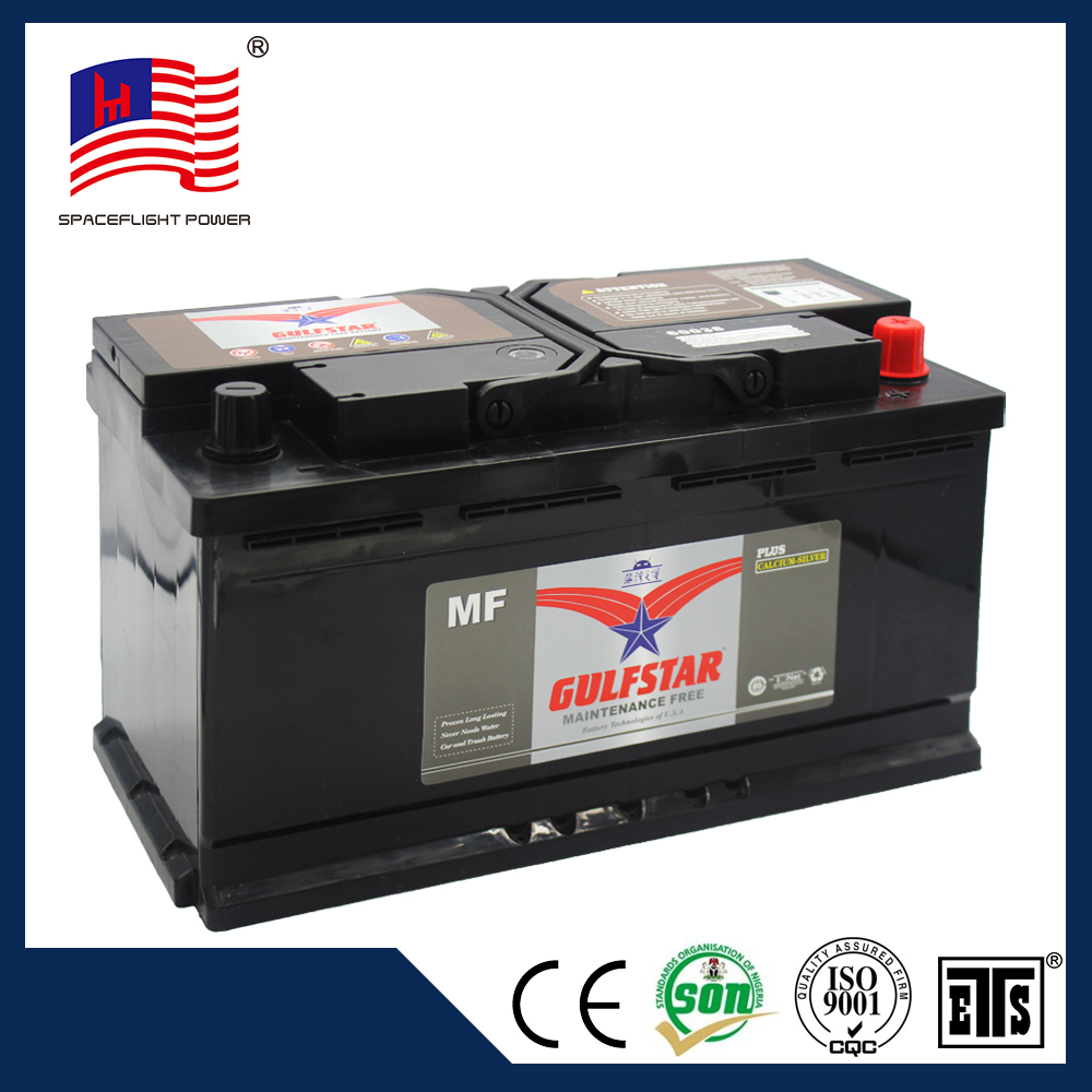 Competitive price GULFSTAR 60038 car start lead acid auto batteries 12v 100ah