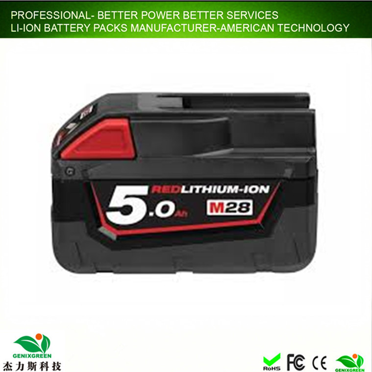 Best Quality 18650 Battery Power Tool Li-ion Battery Pack 18V 5ah Rechargeable