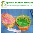 Round shape colorful valentines bamboo baskets
