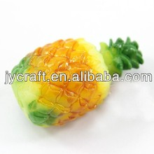 OEM decorative miniature plastic food artificial fruit fake pineapple