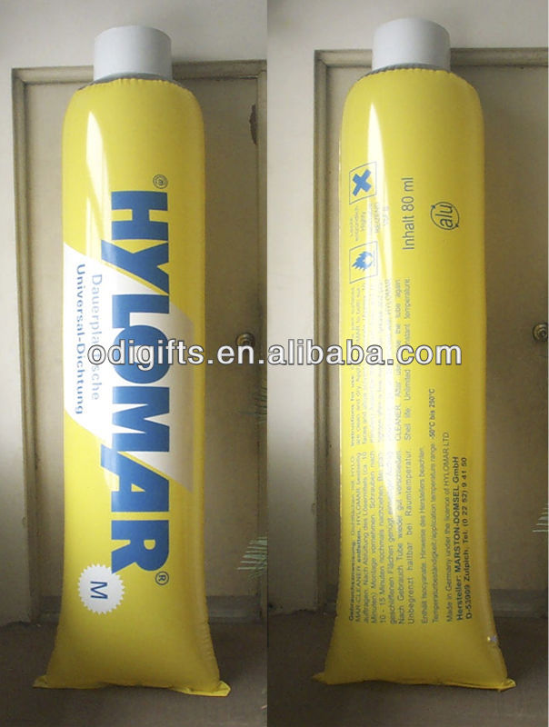 PVC inflatable advertising toothpaste model