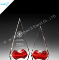 China wholesale red crystal trophy Award