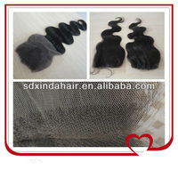 Top quality lace front closure weaves 100 remy human hair