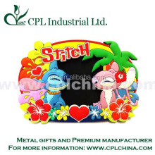 Customized and various shapes and size 3D soft PVC photo frame for pictures