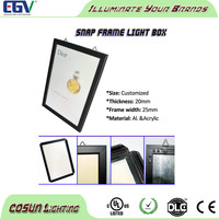 60x120cm DIY snap frame photo light box for displaying poster