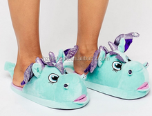 Ladies Cute Unicorn Animal Shaped Shoes Winter Warm Indoor Shoes
