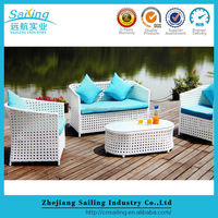 Loveseat Sofa Set 4Pcs Modern Plastic Arden Classics Outdoor Furniture