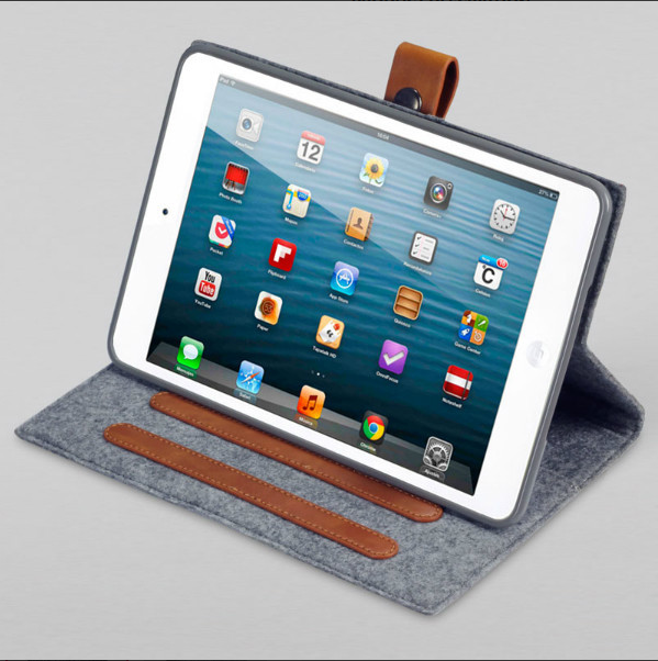 For Ipad 2/3/4 Flip felt PU Leather Smart Stand Magnet 360 Degree Rotating Case Cover For Ipad