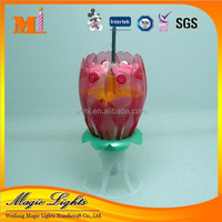Semitransparent Double Layer Music Sparkling Birthday Candle