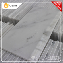 Shiny 152x305mm Asian Statuary White Oriental Chinese Carrara Polished Marble Floor Tile