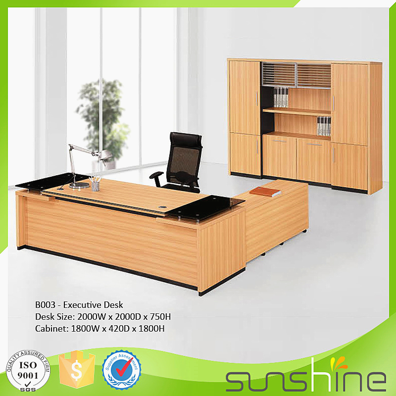 Best price 2016 modern executive desk office table design mfc board