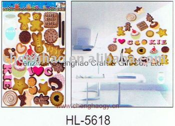 mirror decorative wall sticker cookies