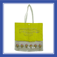 Special Products Bros Baby Rinne Waterproof Printed Yellow Transparent Beach Tote bag For Four Seasons