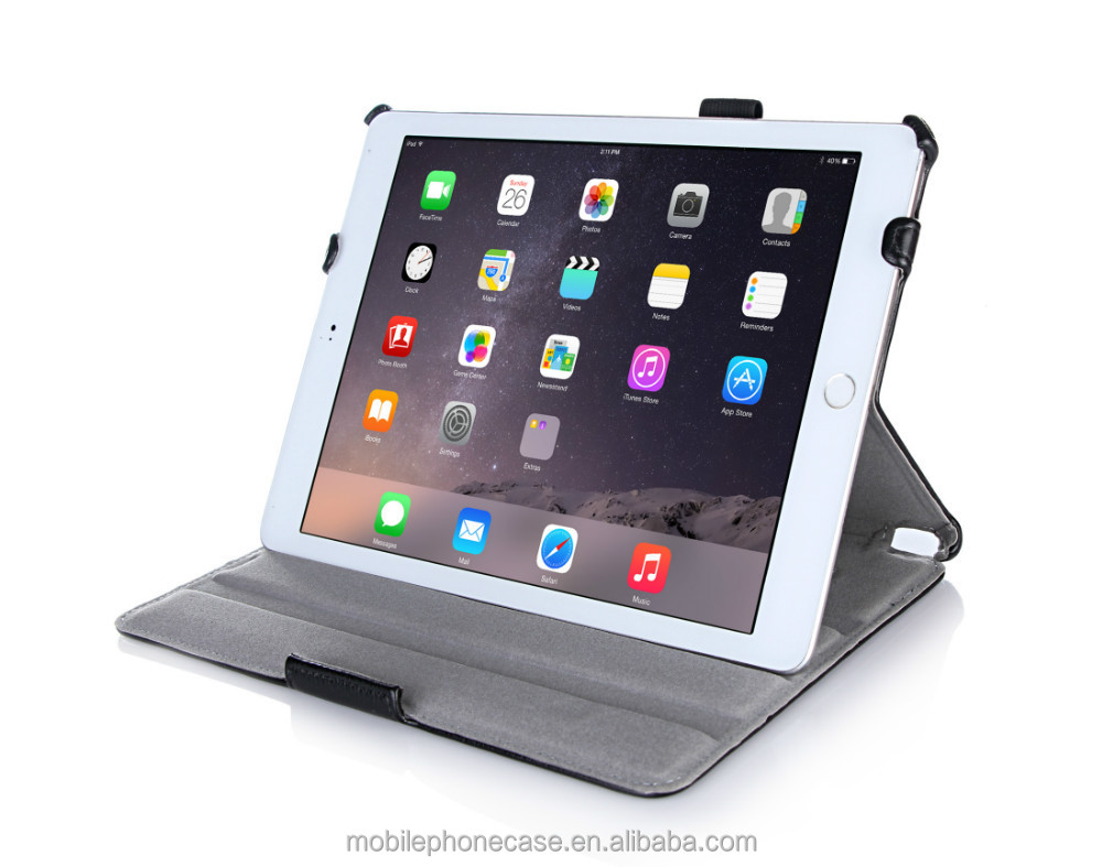 Sturdy case for iPad air 2 with hand strap, auto wake/sleep function