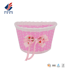 Ningbo HUALONG wholesale hand knitted decoration flowers children bicycle front basket