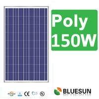 good price of china polysilicon 120w 130W 140W 150W 160W solar panel from Bluesun