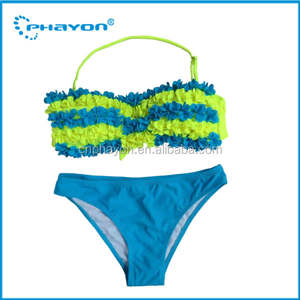 Mature women gender and 18% elastan+82% nylon Material push up boost beach bikini