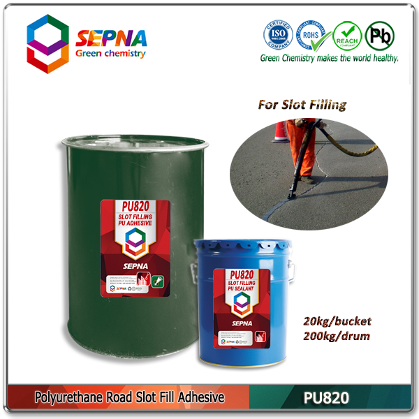 self-leveling highway surface gap sealing adhesive