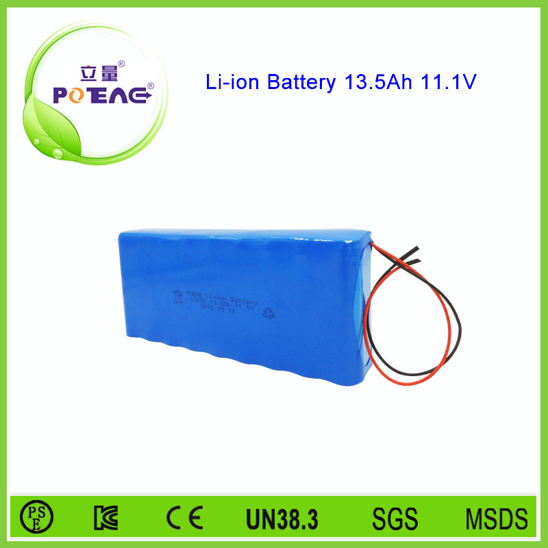 Li-ion type 13.5ah 12 volt battery for electric wheelchair