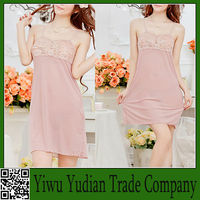 Super Quality Wide Style Sweet Girls pink Sexy Nightwear
