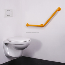 Wall mounted anti-bacterial nylon 135 degree bathroom grab bars for disabled