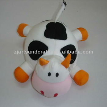 Microbeads stuffing toys cute cow design soft toy