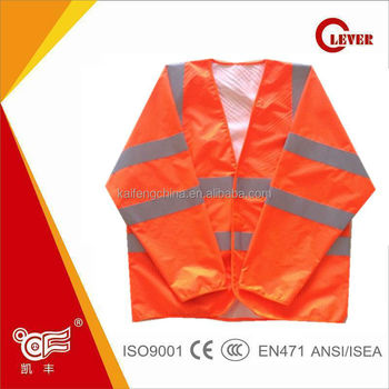 Pink police safety reflective jackets for road safety KF-019