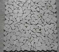 white pebble marble stone mosaic tile