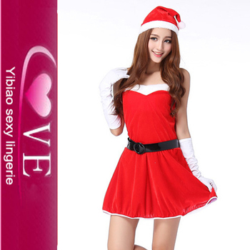 Bulk Cheap Girls Sexy Dress Fancy Christmas Santa Claus Costume
