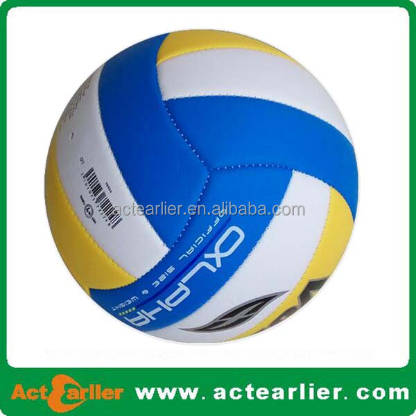 standard size volleyball made of soft pu pvc leather volleyball