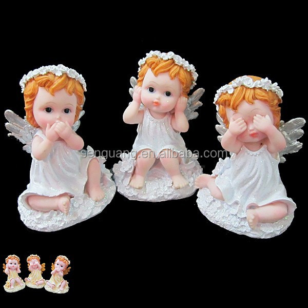 resin white little angels models