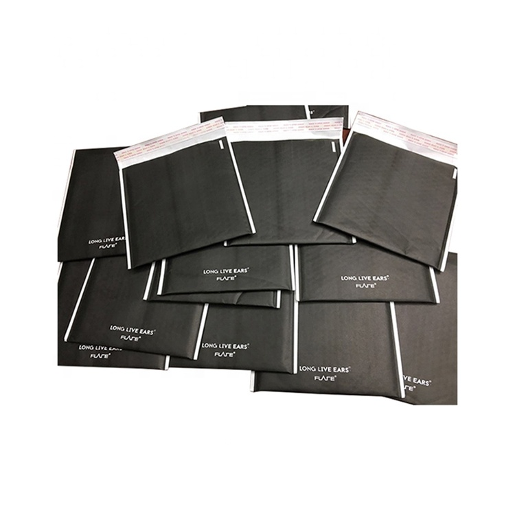 black matte #0 6x10 6&quot;<strong>x10</strong>&quot; custom sizes kraft paper padded bubble Wrap Lined Mailers envelope bag