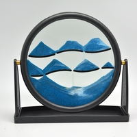 Oval Moving Sand Art With Transparency