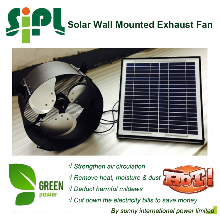 vent goods Solar Gable Fan with battery and adjustable solar panel high quality cooling ventilating M