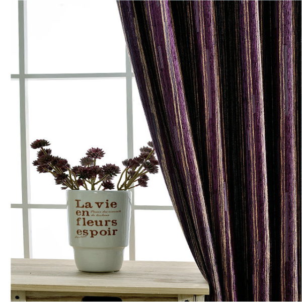 Environmental cotton polyester beautiful ready made curtains for living room