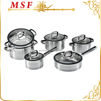 18/10 stainless steel cookware functional kitchen ware