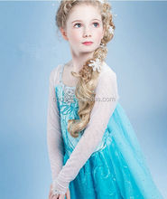Cheap Children Girl Frozen Elsa Dress Wholesale Princess Elsa Costume Blue