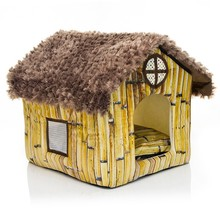 wholesale alibaba best selling OEM products new premium dog kennel small cute lovely bamboo design pet cat house in home garden