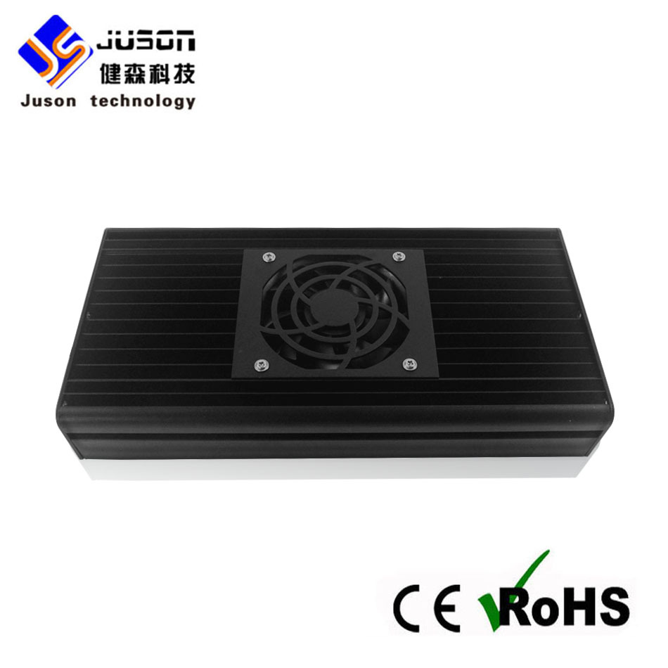 Black Aluminum Shell LED Grow Lighting 90W AC85-264V Greenhouse Grow Tent Grow LED Light LED Plant Grow Light With Radiator Fans