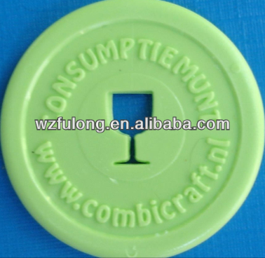 plastic cheap custom coins