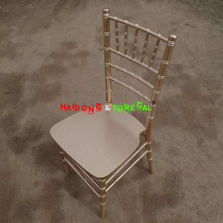 Gold Champagne Colour Wood Chiavari Party Chairs