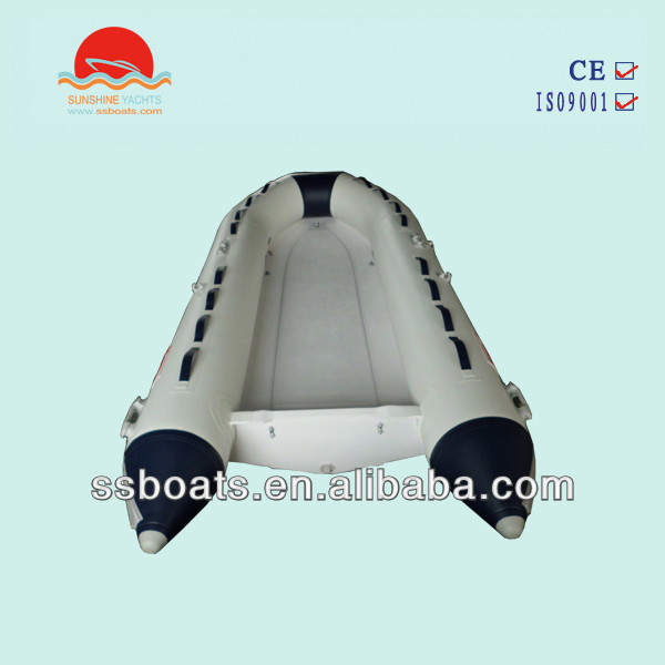 Sunshine made Fishing Fiberglass RIB inflatable boat, inflatable hypalon boats