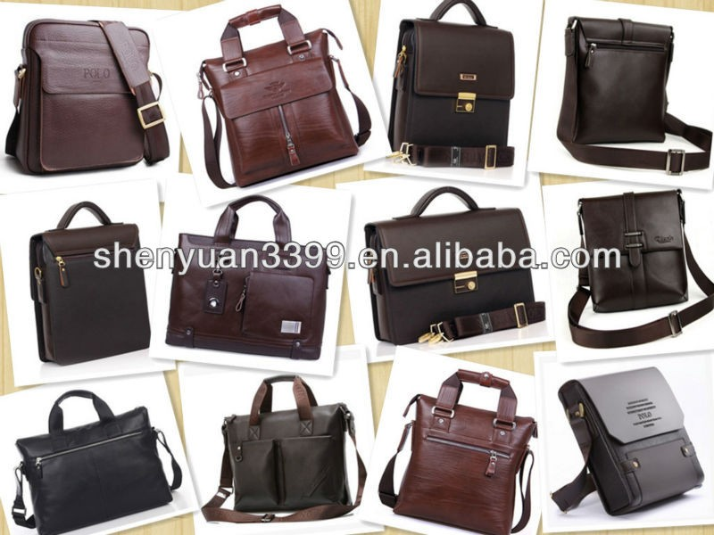 2016 Shopping imported genuine leather messenger bag for men,high quality leisure mens bags