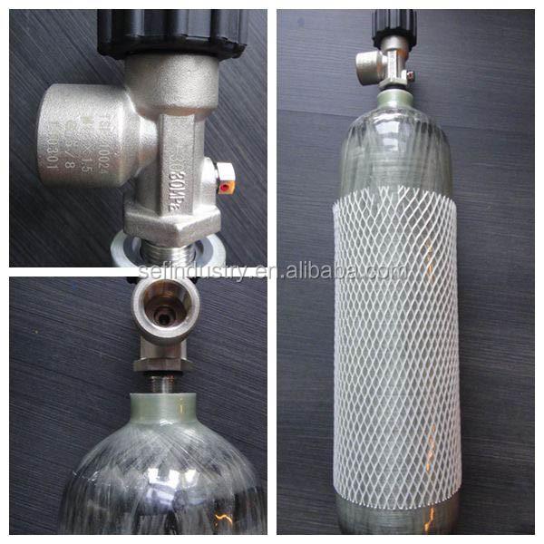 High pressure l mpa carbon fiber scuba tank composite