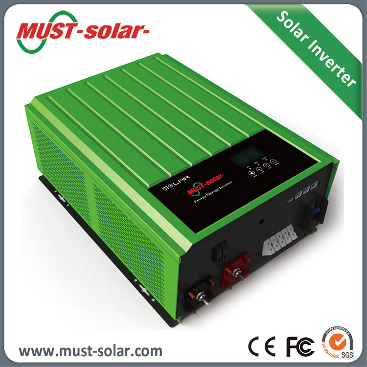 Promotion factory price 3kw grid tie solar inverter with built-in charge controller